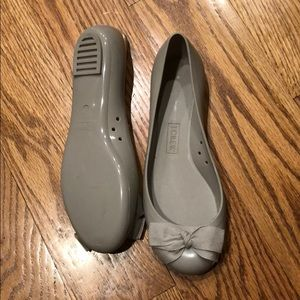 Jcrew rain flats- never been worn outside
